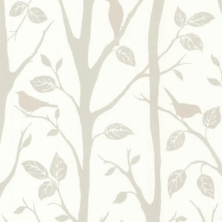 Brewster 2532-20446 Corwin Grey Bird Branches Wallpaper