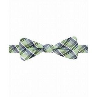Ryan Seacrest NEW Green Blue Distinction Malibu Grid Silk Bow Tie