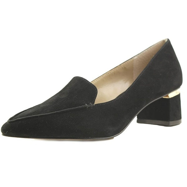 Enzo Angiolini Denna Women Pointed Toe Suede Black Heels