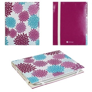 JAVOedge Purple Vintage Floral Ultra Thin Book Style Case for Barnes & Noble 2nd Generation Nook Glowlight