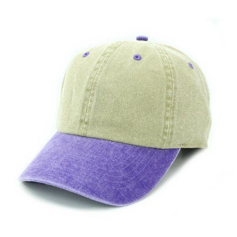 Washed Low Profile Plain Baseball Cap Cotton with Adjustable strap