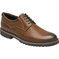 Rockport Men's Marshall Plain Toe Oxford Fawn Leather