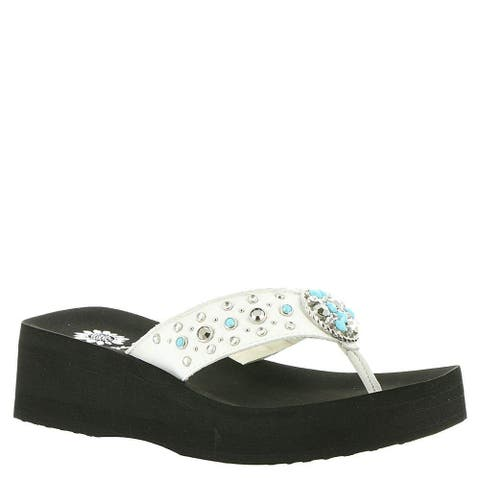 1443d6e88ff2 Buy White Yellow Box Women s Sandals Online at Overstock.com