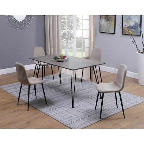 Somette Shiva Brown and Black 5-Piece Dining Set