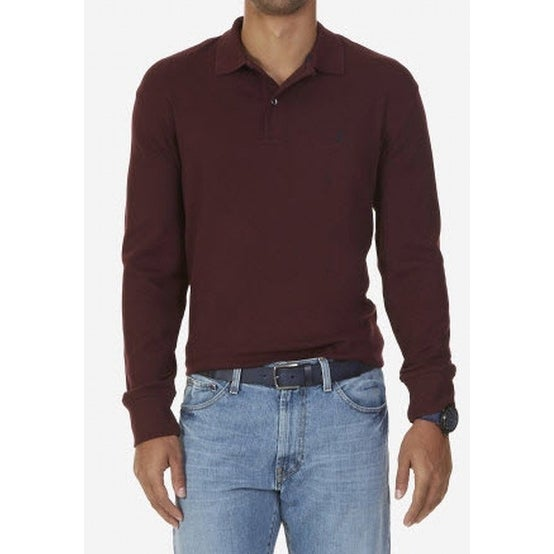 Shop Nautica NEW Shipwreck Burgundy Red Mens Size 2XLT Long Sleev Polo  Shirt - Free Shipping On Orders Over  45 - Overstock.com - 19567168 8d3cad265