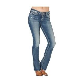 Silver Jeans Denim Womens Tuesday Bootcut Dark Wash L13705SAI371