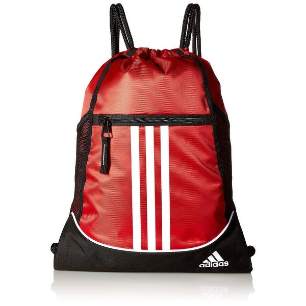 5774633416 adidas Red Alliance II Sackpack Striped Men  x27 s Drawstring Backpack ...