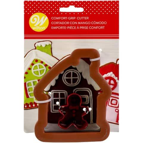 "Comfort-Grip Cookie Cutter 4""-Gingerbread House"