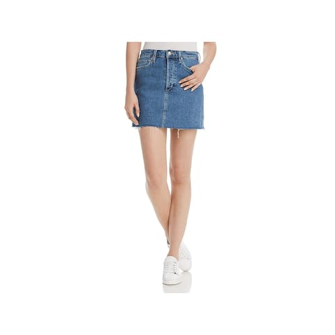 Joe's Womens Bella Denim Skirt High Rise Frayed