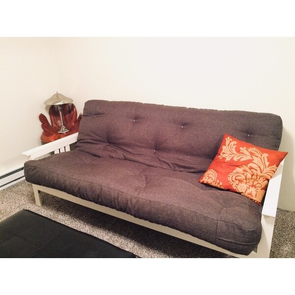 Somette Beli Mont Multi Flex Futon Frame In Antique White Wood Mattress Not Included Free Shipping Today Com 15924983