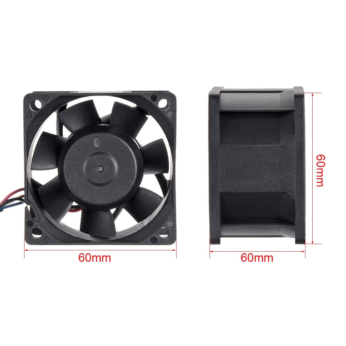 uxcell SNOWFAN Authorized 60mm x 60mm x 25mm 24V Brushless DC Cooling Fan 0410