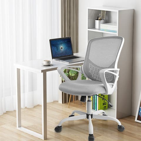 Home Office Chair, Mesh Desk Chair, Mid Back Home Office Chair, Computer Swivel Rolling Task Chair Ergonomic Executive Chair