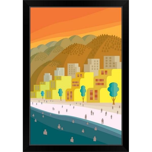 """""""Puerto Penasco"""" Black Framed Print"""