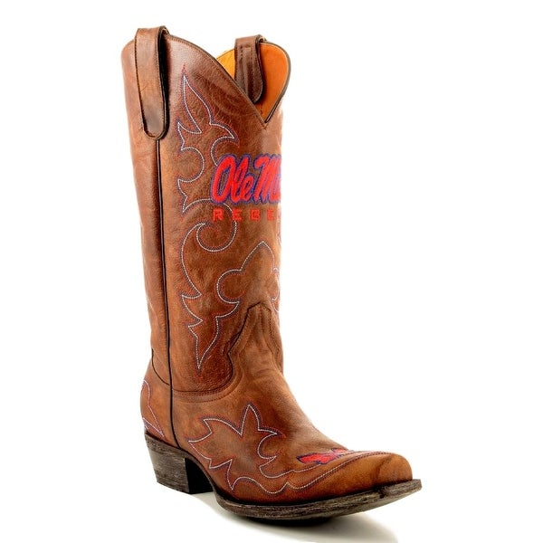 Gameday Boots Mens College Team Mississippi Rebels Brass