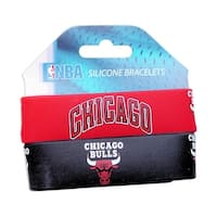 Chicago Bulls Rubber Wrist Band (Set of 2) NBA