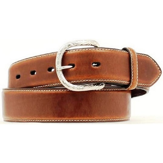 Nocona Western Belt Mens Basic Design Leather Cedar