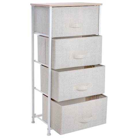 Simplify 4 Drawer Storage Chest in Beige