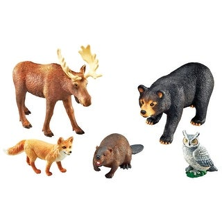 Learning Resources Assorted Jumbo Forest Animals, Set of 5