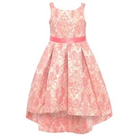 732c4b9907 Shop Rare Editions Little Girls Blush Shimmery Round Neckline Hi-Low ...