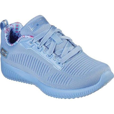 Skechers Girls' LIL BOBS Sport Squad Glam League Sneaker Blue