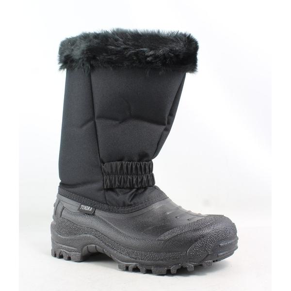 Tundra Womens Glacier Black Snow Boots Size 6