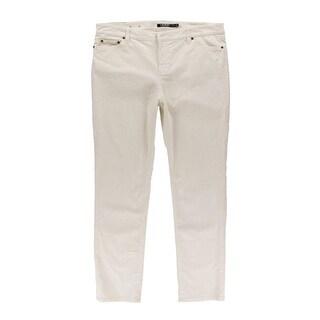 Ralph Lauren Womens Plus Corduroy Pants Straight Leg Slimming Fit