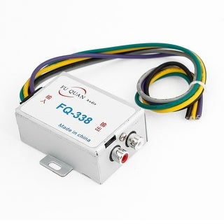 Unique Bargains Car Audio Amplifier 2 Channel Line Output High to Low Convertor Silver Tone