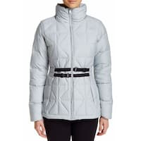 The North Face Silver Womens Size XL Belted Mera Peak Puffer Jacket