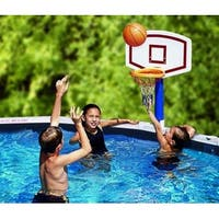 Water Sports Jammin' Basketball Poolside Above-Ground Swimming Pool Game - White