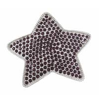 Purple Rhinestone Covered Chrome Star Belt Buckle
