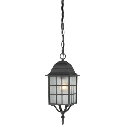 Nuvo Lighting 60/4913 Adams Single-Light Hanging Lantern with Frosted Glass Panels