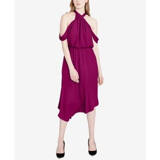 Rachel Rachel Roy Purple Womens Size 0 Cold-Shoulder A-Line Dress