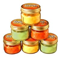 Pack of 6 Yellow and Orange Outdoor Patio Garden Citronella Candles in Mason Jars 3oz