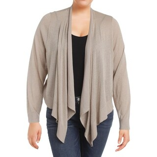 Jessica Howard Womens Plus Cardigan Sweater Metallic Open Front - 3x