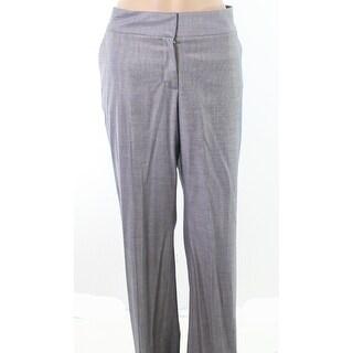 Classiques Entier NEW Blue Gray Womens Size 10 Flat-Front Dress Pants