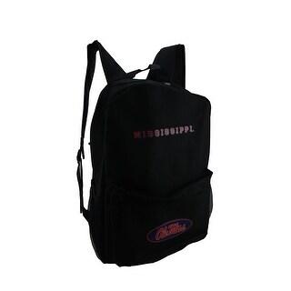 NCAA Ole Miss University of Mississippi Canvas Backpack - Black