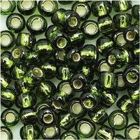 Toho Round Seed Beads 6/0 37 'Silver Lined Olivine' 8 Gram Tube