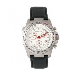 Morphic M36 Series Men's Quartz Chronograph Watch, Genuine Leather Band, Luminous Hands