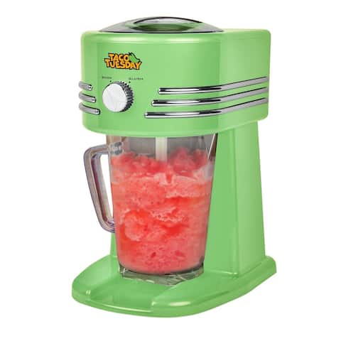 TACO TUESDAY Frozen Margarita Maker Frozen Drink Machine for Slushy Drinks - Green - 10 Inch x 12.75 Inch x 8.75 Inch