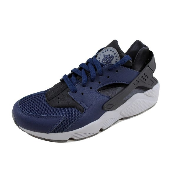 33e5d7aae4dc Shop Nike Men s Air Huarache Midnight Navy Midnight Navy-Dark Ash ...