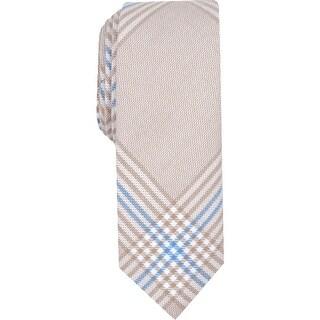 Original Penguin Mens Maude Neck Tie Plaid Business - Cream - O/S