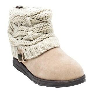 MUK LUKS Women's Patti Boot Light Beige