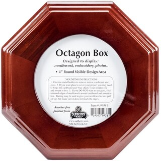 "Mahogany Octagon Box 6""X6""X2.75""-Design Area 4""X4"""