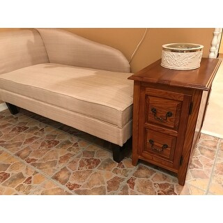 Solid Wood Shaker Cabinet End Table