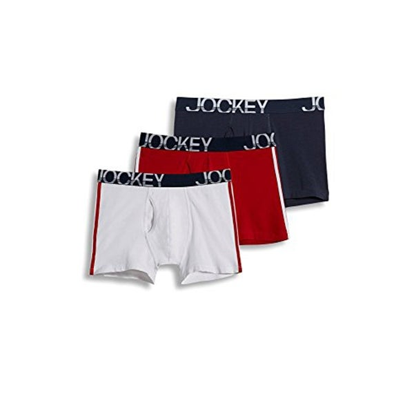 b19d37c6a3d398 Shop Jockey Men's Underwear ActiveStretch Midway Brief - 3-pack - Free  Shipping On Orders Over $45 - Overstock - 22302048