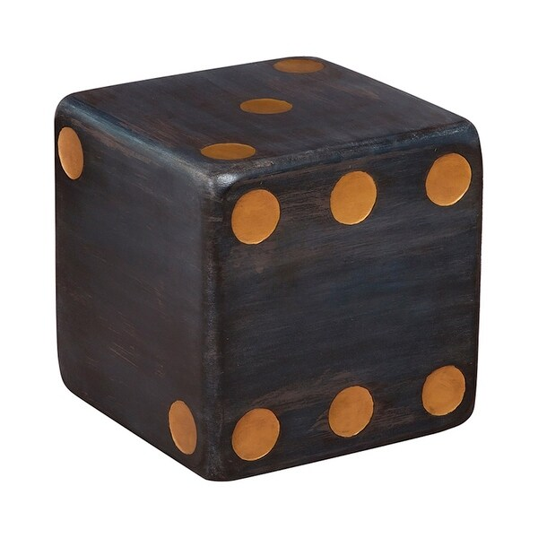 """GuildMaster 713020 Dice Accent 15"""" Wide Hand Carved Mahogany Accent Table - Manor Graystone"""