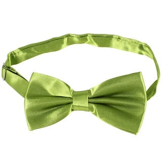 Tuxedo Ornament 2 Layers Adjustable Strap Neckwear Bow Tie Green
