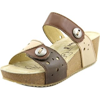 Romika Florida 06 Open Toe Leather Wedge Sandal