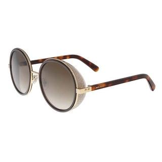 Jimmy Choo JMC ANDIE/S 0J7G Rose Gold Round Sunglasses