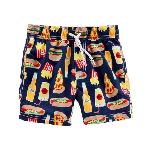 a3688b9736 Shop Carter's Baby Boys' Food Print Swim Trunks, 12 Months - Free Shipping  On Orders Over $45 - Overstock - 25586373